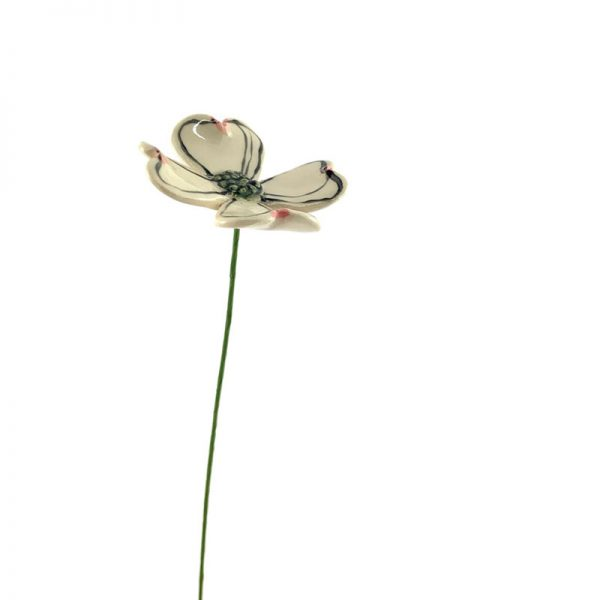 ceramic dogwood flower