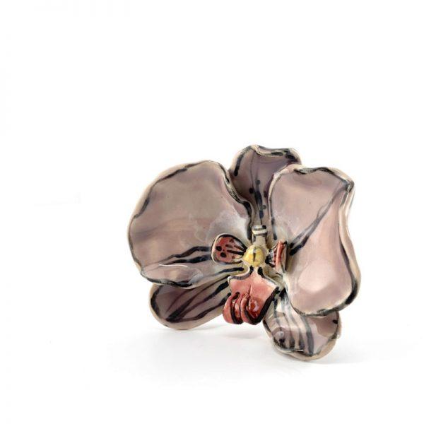 ceramic orchid close up