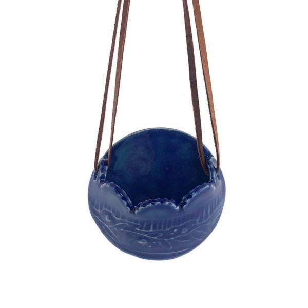 blue air plant holder