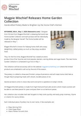 Home Garden Press Release