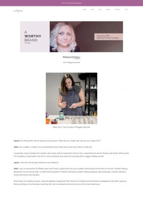 A Worthy Brand Blog Feature